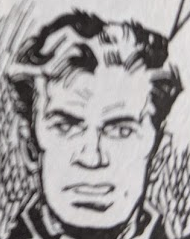 crop of character head, commando comic True Brit
